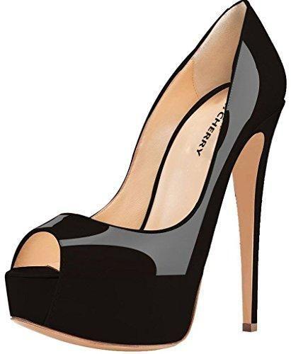 Oferta: 68.99€ Dto: -67%. Comprar Ofertas de Onlycherry Mujer Ablockage Tacón de aguja 15CM Sintético Sandalias de vestir, Negro-Patent, 37 barato. ¡Mira las ofertas!