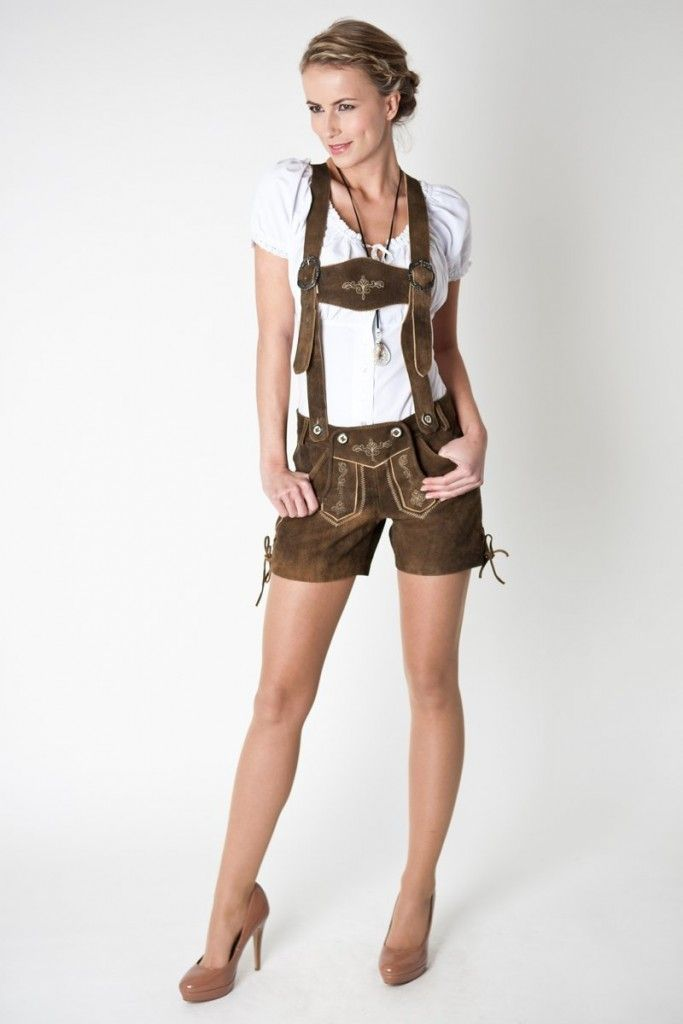 Trachten Lederhosen, Emma Style in Walnut Brown