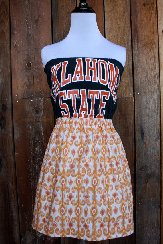 Oklahoma State University OSU Game Day Dress  Size by jillbenimble