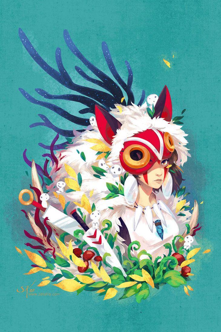 http://komoriebi.deviantart.com/art/Mononoke-Hime-Tribute-552884450