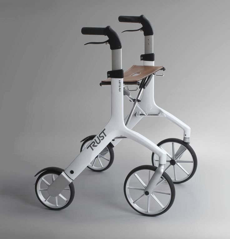 #Folding height-adjustable rollator (4 casters, with #seat) - Let's Fly - Trust Care
