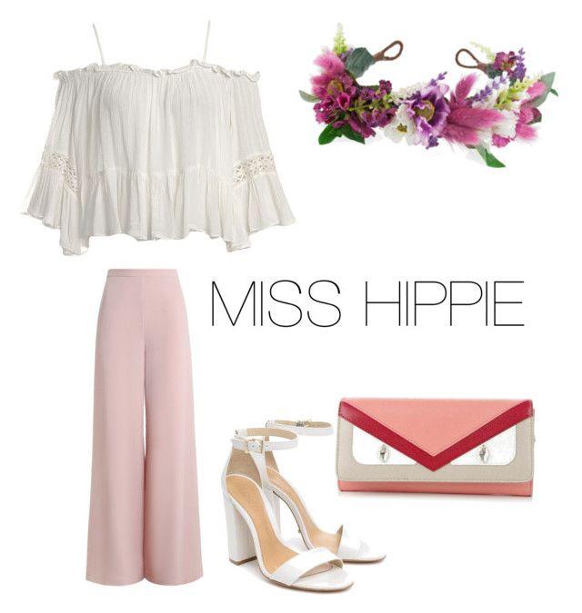 """""""MISS HIPPIE"""" by flobetty on Polyvore featuring Mode, Zimmermann, Sans Souci, Rock 'N Rose, Schutz und Fendi"""