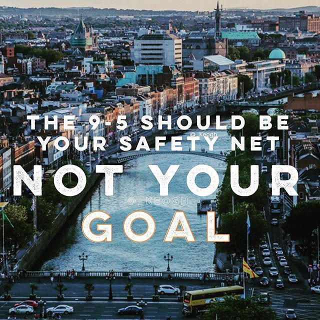 The 9-5 is always an option. Limiting yourself to a life of that is taking your dreams from yourself. #motivation #motivatingquotes #life #lifequotes #career #entrepreneurship #risk #safetynet #instagram #instagood #instacool #instadaily #picoftheday #pictures #pictureoftheday #potd #insta #ireland #dublin #dublin🍀 #dublinireland  #kildare #nyc #boston #siliconvalley #goals #goodmorning #breakfast