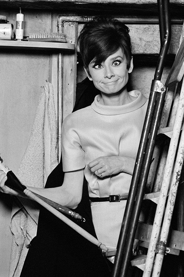Audrey Hepburn Pulls A Funny Face On The Set Of The Romantic Comedy How To Steal A Million In Paris In The 60's