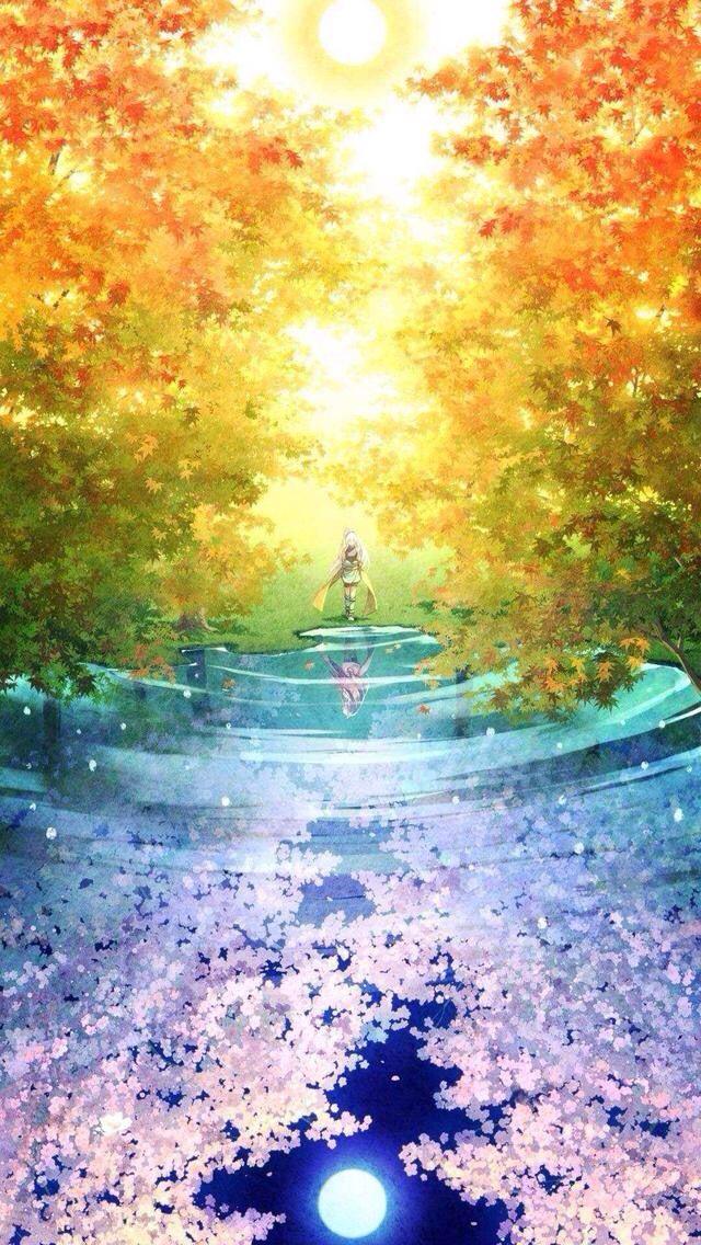 Rainbow colors Anime scenery wallpaper, Anime scenery