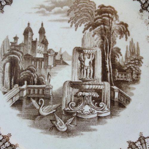 Pareja de platos antiguos de Pyckman   ArteyCosas