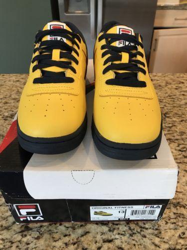 2cb06f6526 Men's FILA Original Fitness Lemon Navy Red Sneakers Shoes Size 13  1FM00081-732