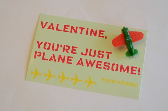 so cute!Valentine'S Day, Boys Valentine, Cards Ideas, Valentine Day Cards, Valentine Cards, Awesome Valentine, Valentine Ideas, Planes Awesome, Airplanes Valentine