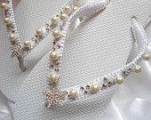 Bridal flip flops Flat bling wedding shoes, Wedding flip flops, beach wedding sandals, bridal sandals, white flip flops
