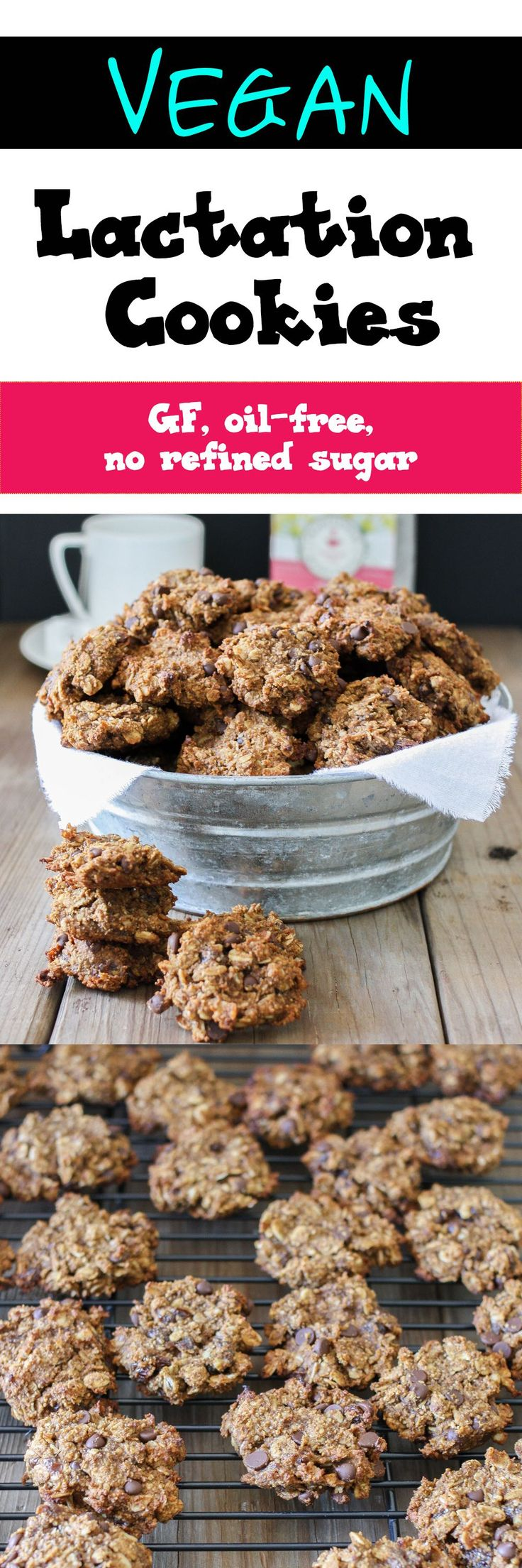 VEGAN CHOCOLATE CHIP RAISIN MACADAMIA NUT OAT LACTATION COOKIES | http://www.veggiesdontbite.com | #vegan #glutenfree #nooil #oats #chocolate #raisins