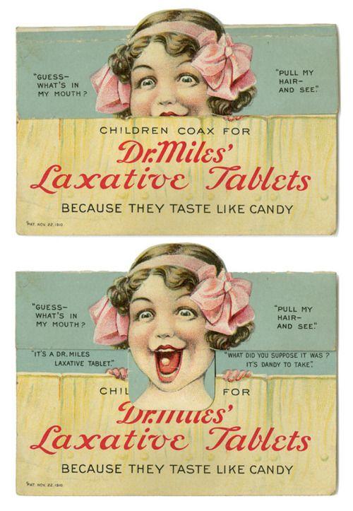 Archival medical imagesVintage Advertis, Hidden Treasure, Facebook Like, Old Advertis, Kids Eating, Medicine, Laxative Tablet, Vintage Ads, Weights Loss