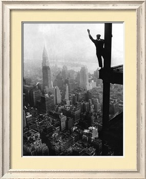 Man Waving from Empire State Building Construction Site -amazing!: Empire States Building, Empire State Building, Building Construction