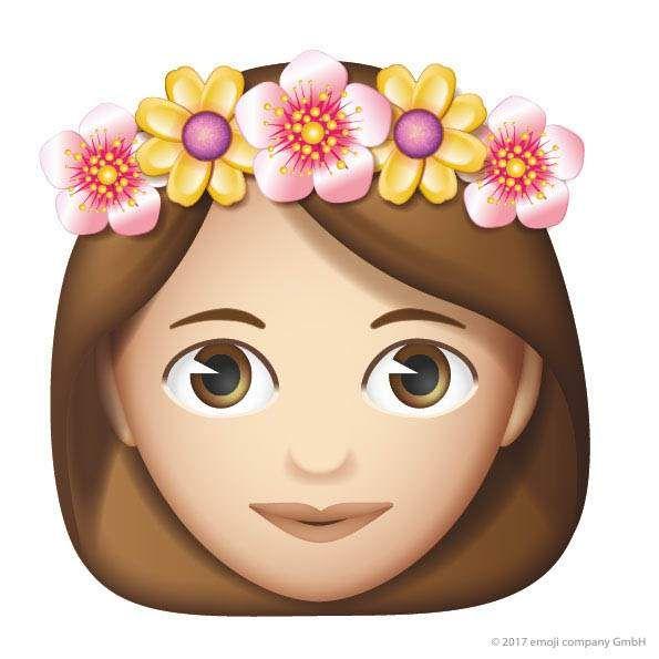 Emoji flower princess icon