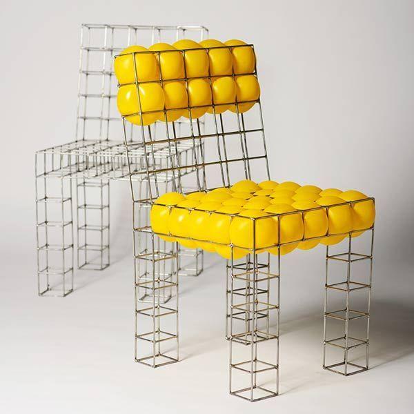 sièges, armature filaire, Pawel Grunert, Meblarium