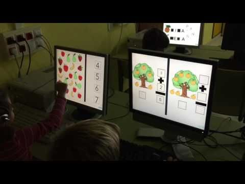 Not just for iPad - An entire class in Ceip Balaídos playing an interactive game created by their teacher!