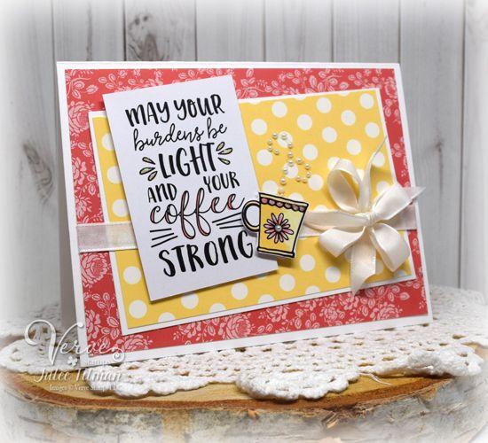 Handmade card by Julee Tilman using the Rise & Shine digital set from Verve. #vervestamps