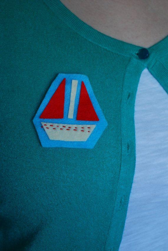 Felt Boat Badge by cakenjelly on Etsy