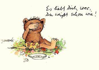 Janosch POSTkarte Es liebt Dich wer,...: Amazon.de: Bürobedarf & Schreibwaren