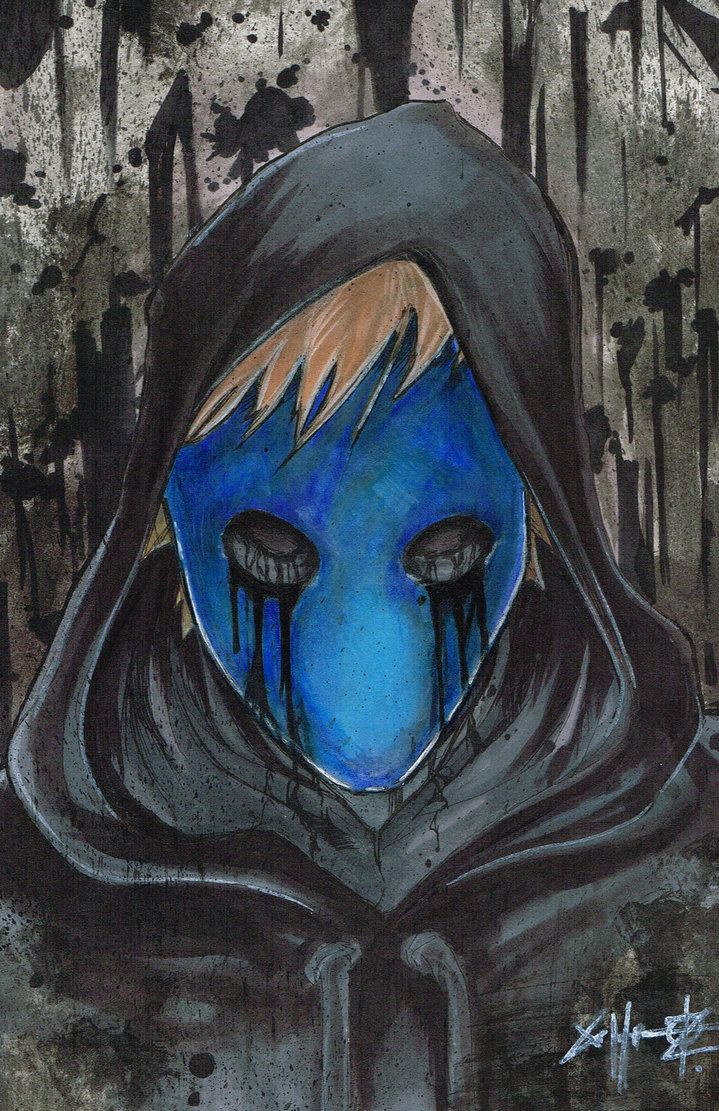 eyeless jack. I think this is a watercolor.. Anyway, It's really cool