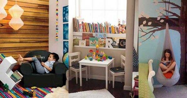 Çocuklara Eğlenceli Okuma Köşeleri