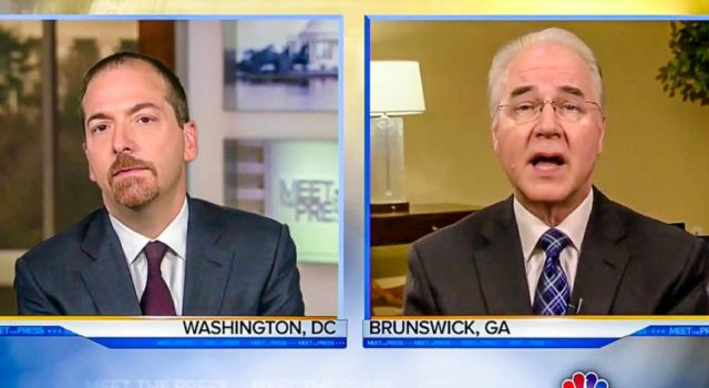 """WITH ALL DUE RESPECT"": HHS Sec Tom Price Runs Circles Around NBC's Chuck Todd [Video]"