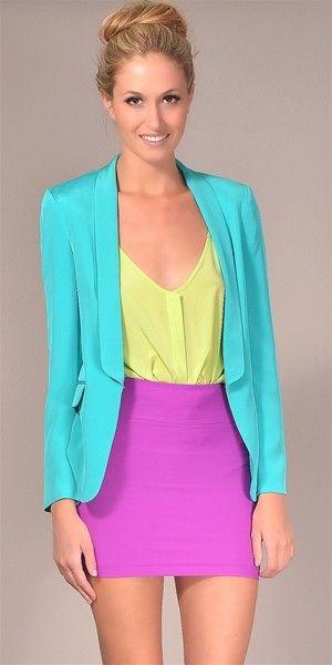 Color!: Colour, Colors Combos, Colorblock, Colors Combinations, Outfits Ideas, Neon Colors, Girls Shoes, Colors Blocks, Bright Colors