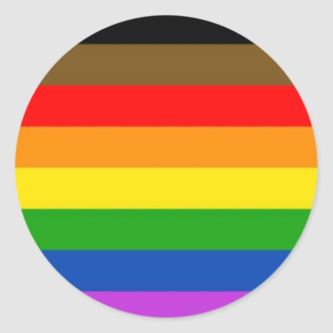 1.5 inch QPOC Queer People of Color Rainbow Black Lives Matter Pride Pin Button