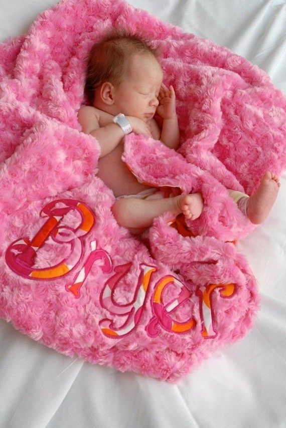 Baby Blanket Flamingo Dot Sorbet Pink Minky by grinsandgigglesbaby, $49.99