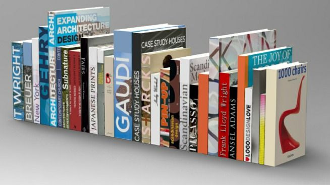 Large preview of 3D Model of Architecture and design books