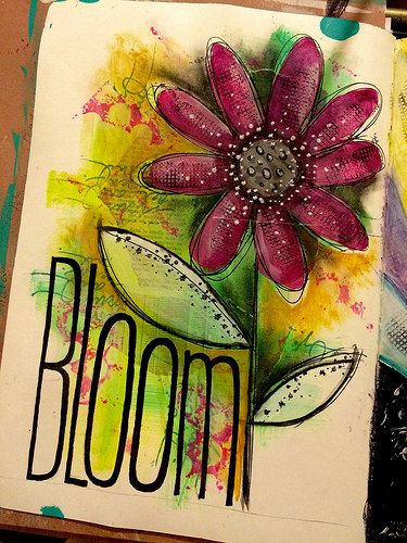 Art journal page - bloom | Flickr - Photo Sharing!