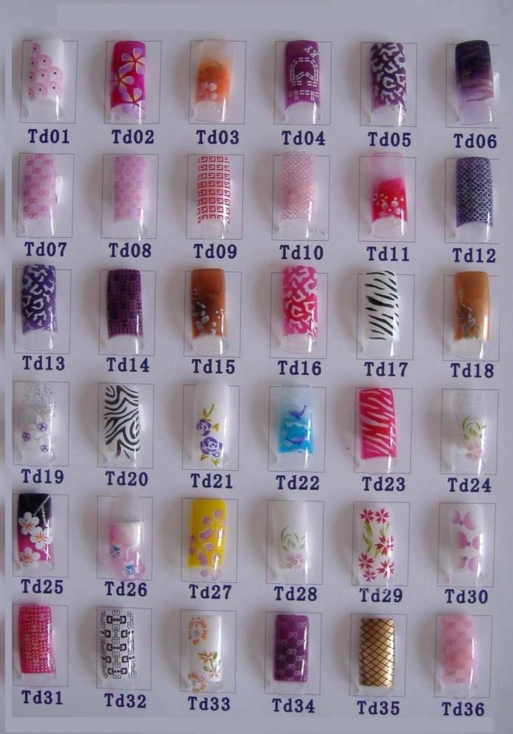 Image detail for -Airbrush Nail Tips design TD-A Art Nail Airbrush Nail Products ...