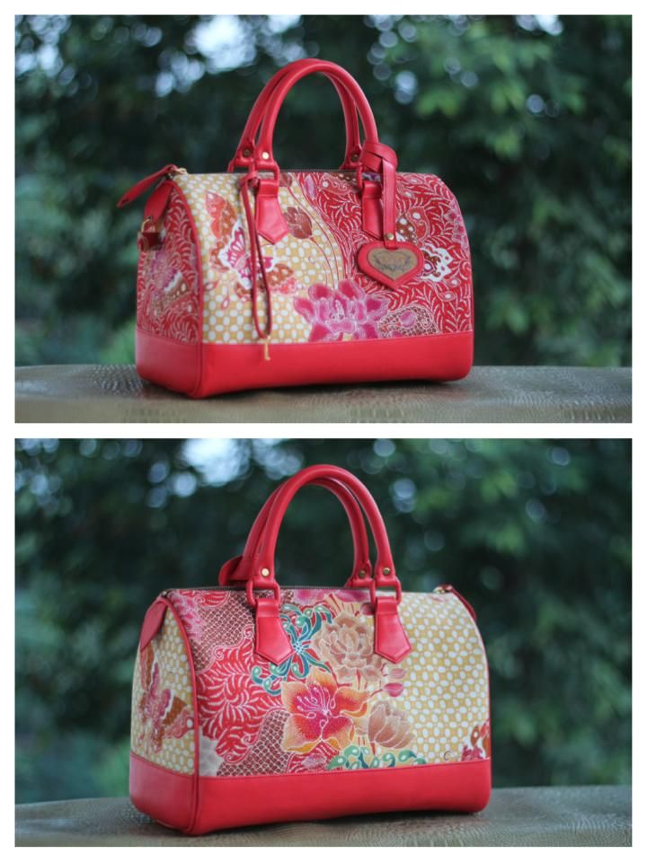 hokontul batik red carrie bag