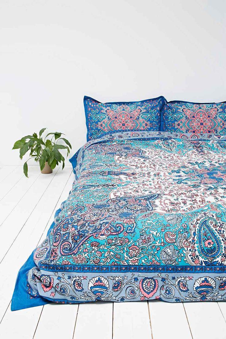 housse de couette dandelion motif m daillon bleue home. Black Bedroom Furniture Sets. Home Design Ideas
