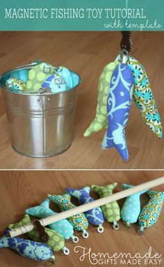 Save money by creating your own toddler toys, including this magnetic fishing toy. With this tutorial from Homemade Gifts Made Easy, any kid will love the bright colors of the plush fish and will have fun catching them.