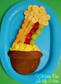 pot o gold: Pot Of Gold, Fun Idea, Fun Food, Lucky Rainbows, Food Idea, St. Patrick'S Day, Breakfast Pancakes, Kitchens Fun, Rainbows Breakfast