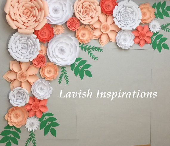 Gran fondo de papel flores fondo arco nupcial ducha cumpleaños decoración nupcial ducha decoración boda princesa de pared de flor de papel