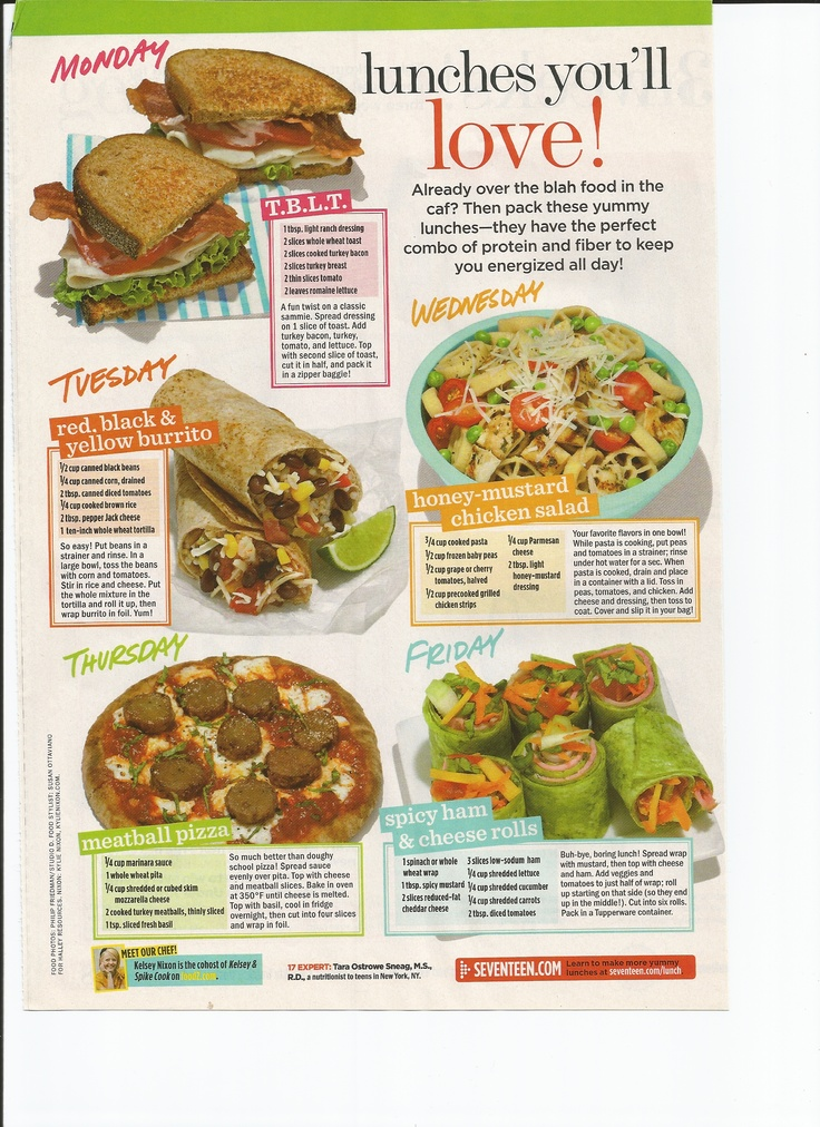 Yummy delicious lunches to take to work or school, that are good for you too!
