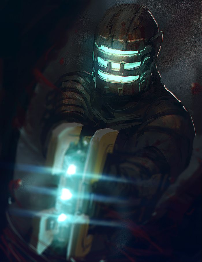I just enjoyed some new brushes with my old Dead Space fan art.