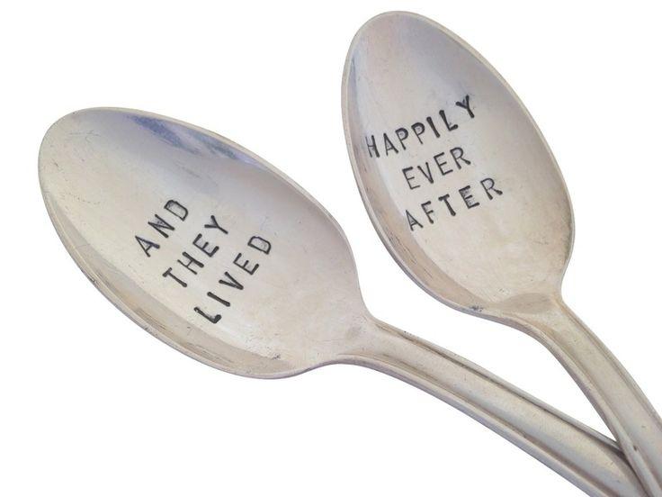 2 Silver Coffee Spoon with labeling van unique STUFF op DaWanda.com