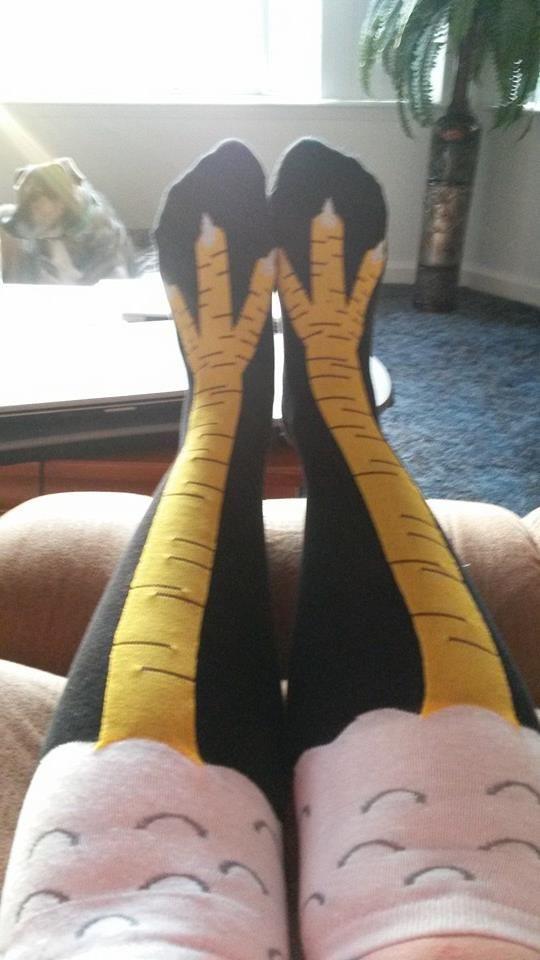 Get your pair of Chicken Leg Moxy Socks here: http://gardensandchickensandworms.com/shop/