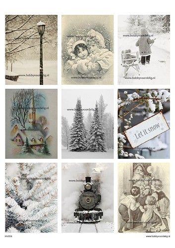 vintage knipvel 54 christmas let it snow
