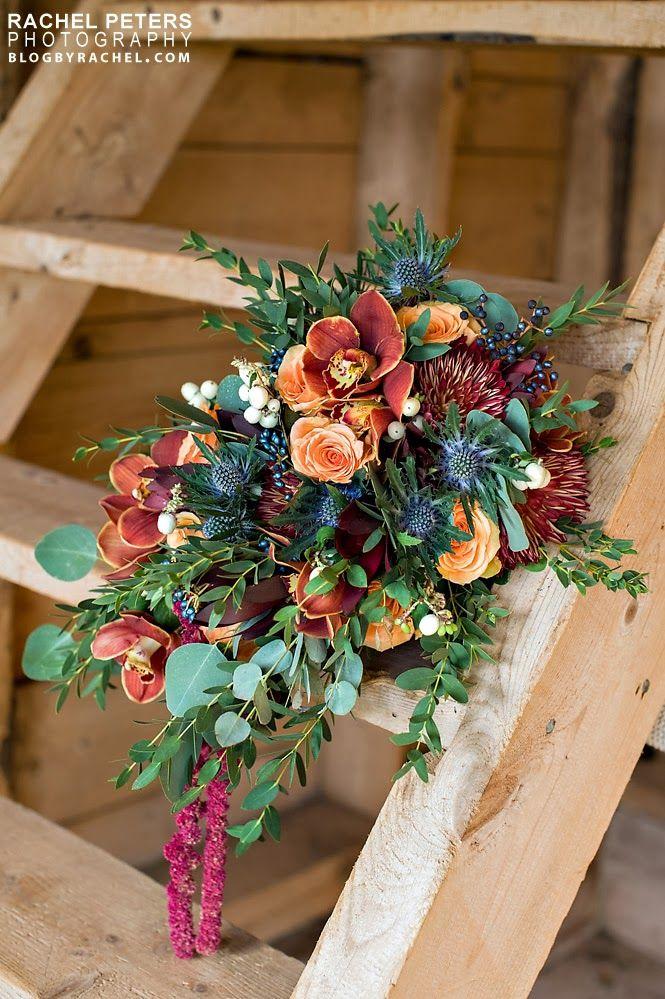 Hello Love ~ Featured on Wedding Chicks. Fall bronze & copper barn wedding.