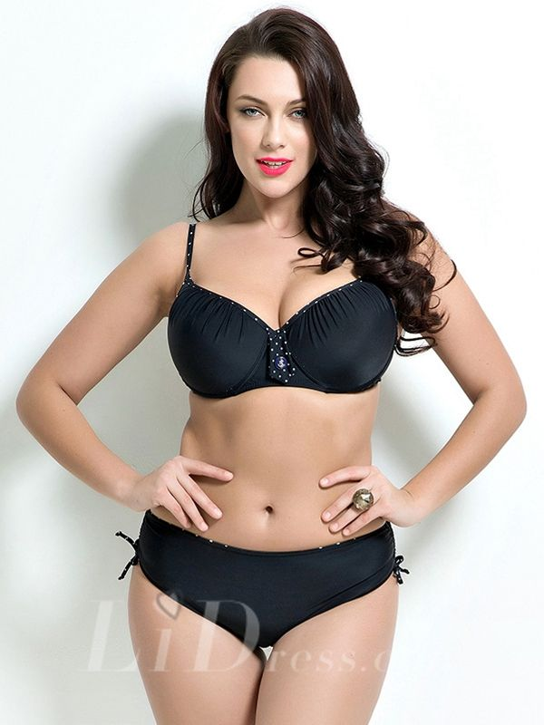 Black Sexy High Waist Two-Piece Bikini Lidyy1605201011