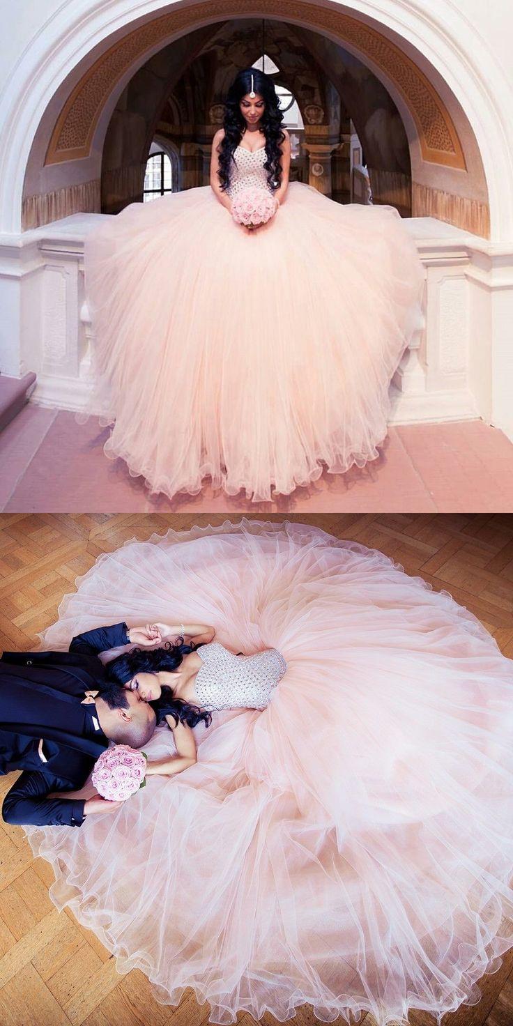 Arabic Wedding Dress,2016 wedding dress,Blush pink wedding dresses,Beaded sweetheart bridal gowns,Tulle wedding dress,