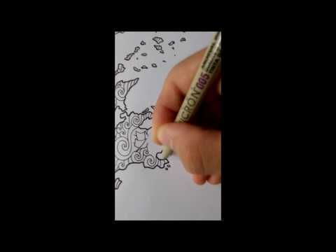 Adult Colouring Page TimeLapse | Greece: Colouring Book - YouTube