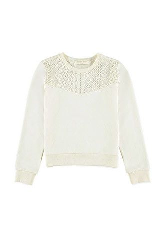 Girls Lace-Paneled Pullover (Kids)