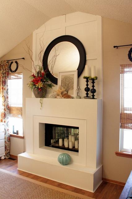 Img Over Fireplace Decor Chimney