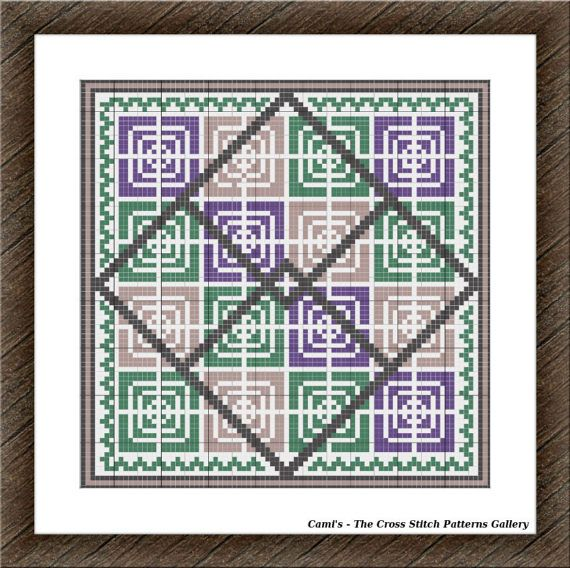 Geometry cross stitch pattern Cross stitch by CamisTheCrossStitch