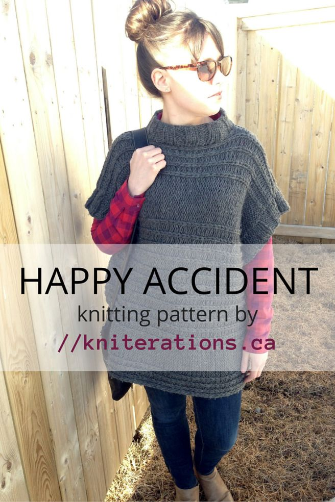 Happy Accident pullover pattern by Allison O'Mahony @kniterations.ca