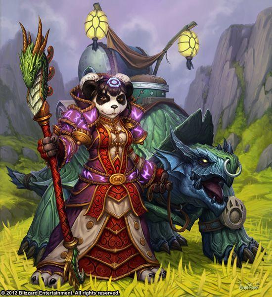 Pandaren and Dragon Turtle - Glenn Rane, Sons of the Storm